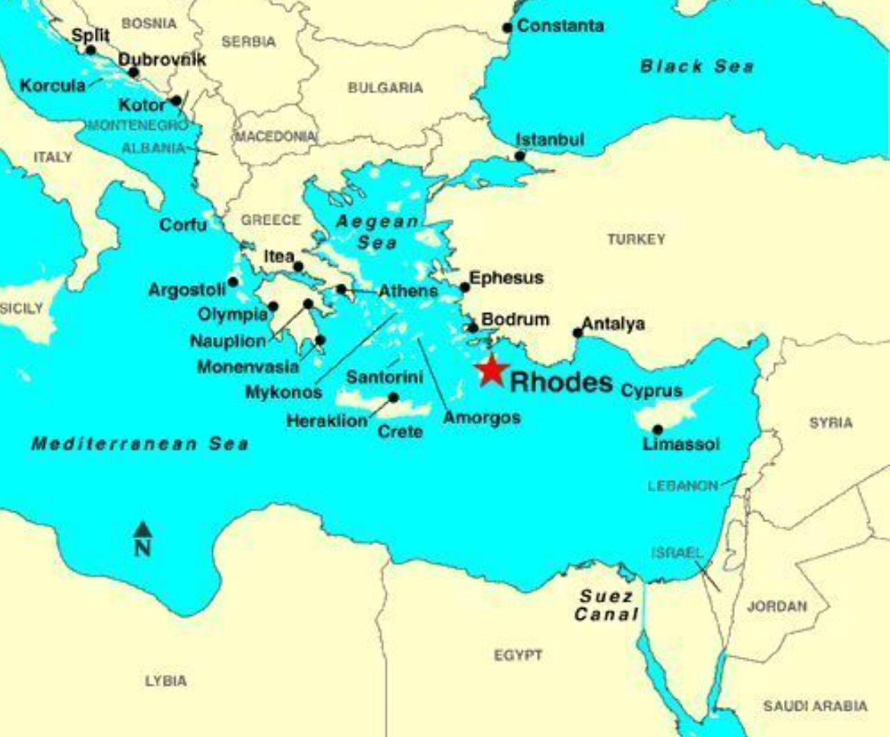 Part 16 Rhodes Greece World cruise 2016